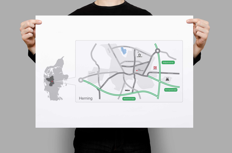 Herning Citymap